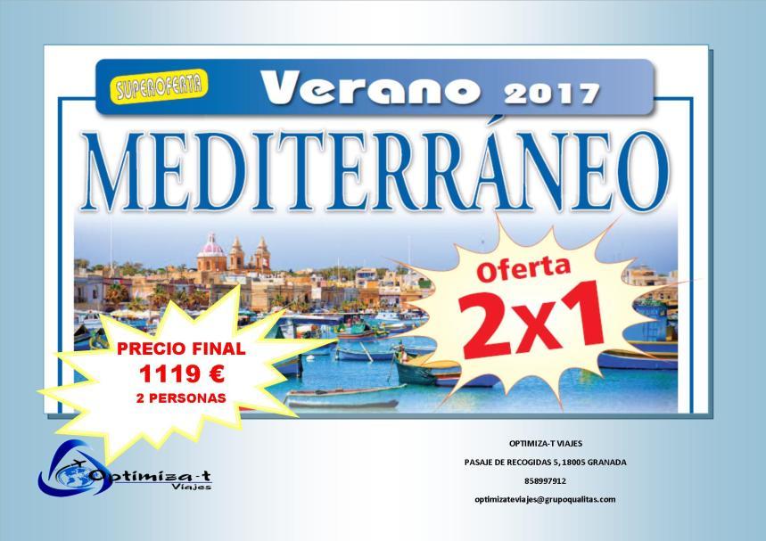 OFERTA 2 X 1 MEDITERRANEO CHIPRE SICILIA Y MALTA